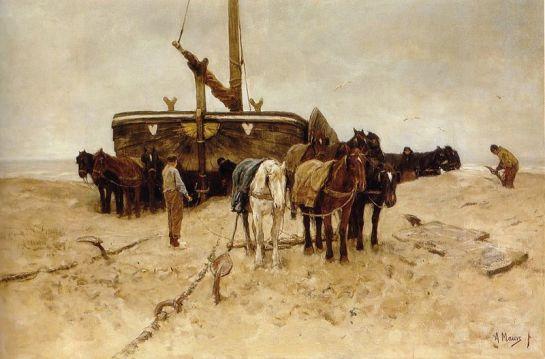 http://en.wikipedia.org/wiki/File:Anton_Mauve_-_Bomschuit_op_het_strand.jpg
